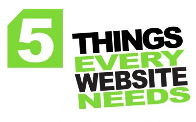 5 Website Essentials